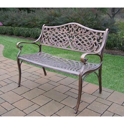 Oakland Living Corporation Outdoor Benches Dakota Cast Aluminum Settee Bench