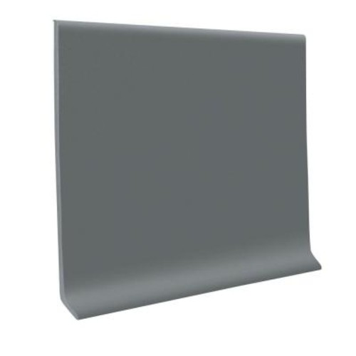 ROPPE Dark Gray 4 in. x 120 ft. x 0.080 in. Vinyl Wall Cove Base Coil