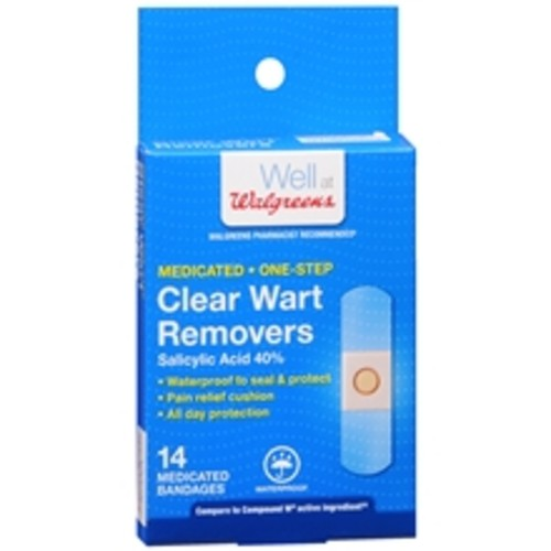Walgreens Clear Wart Removers Medicated Bandages