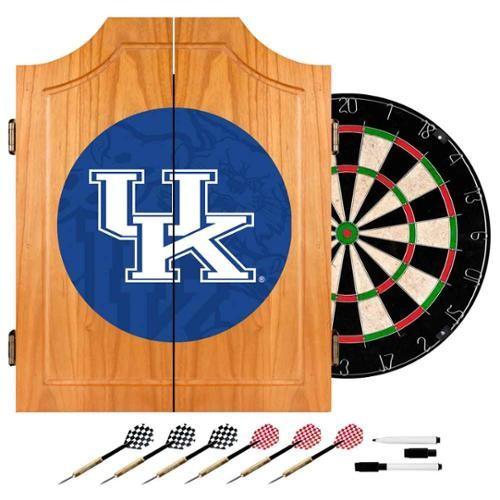 Trademark University of Kentucky Fade 20.5 in. Wood Dart Cabinet Set