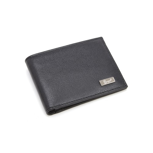 Royce Men's RFID Blocking Saffiano Leather Hipster Bi-fold Wallet