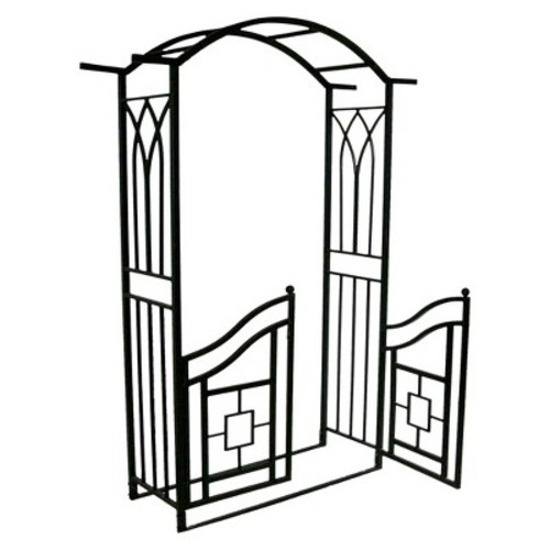 Royal Arbor With Gate - Black