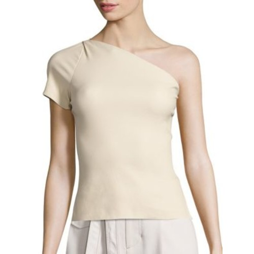 HELMUT LANG One-Shoulder Leather Top