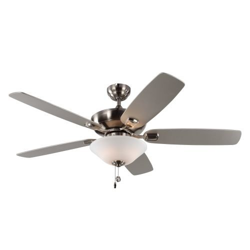 Monte Carlo Colony Max Plus 52 in. Indoor/Outdoor Brushed Steel Ceiling Fan