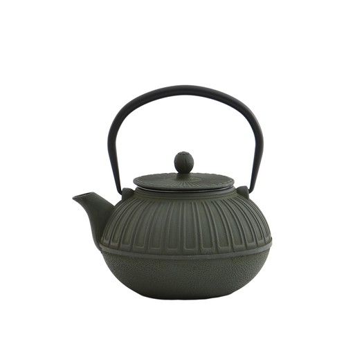 Cast Iron Green Teapot