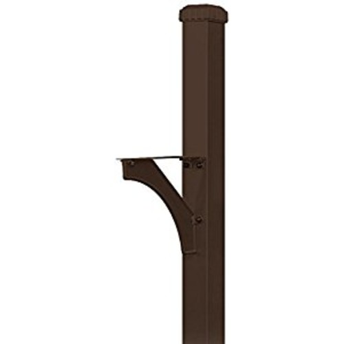 Salsbury Industries 4835BRZ Designer In-Ground Mounted Decorative Mailbox Post, Bronze [Bronze]
