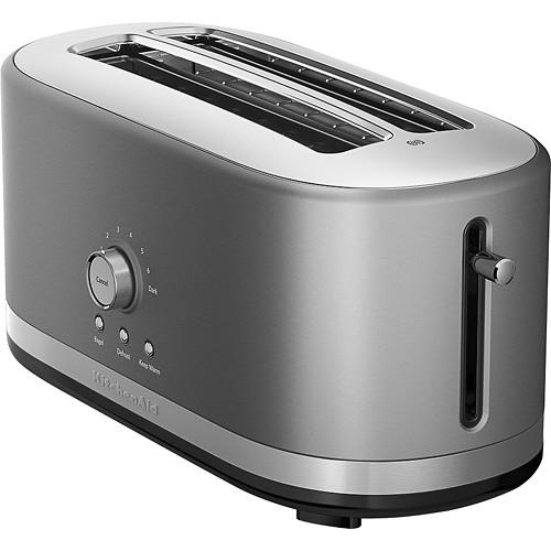KitchenAid - KMT4116CU 4-Slice Wide-Slot Toaster - Contour Silver