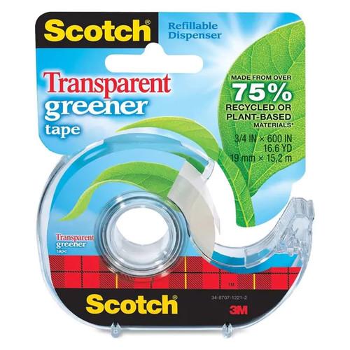 Scotch Transparent Greener Tape - 1/RL
