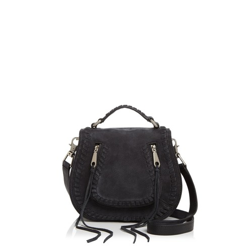 REBECCA MINKOFF Vanity Small Nubuck Saddle Bag