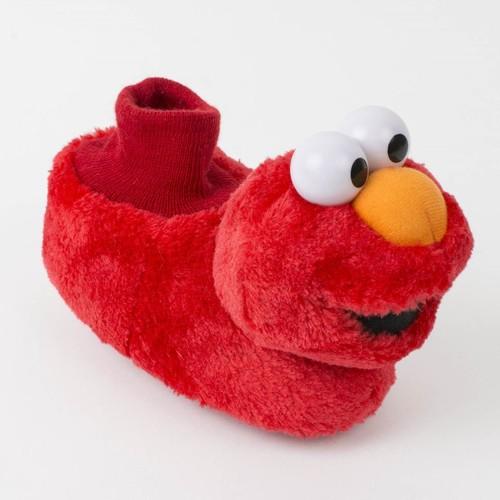 Sesame Street Neutral Red Elmo Sock Top Slippers