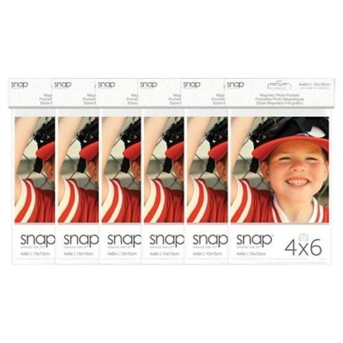 Snap 4x6 Magnetic Photo Pocket Frames, 2pk