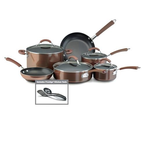 Bronze Nonstick Cookware Set by Farberware Cookware Sets