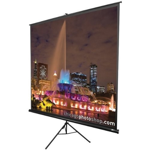 Elite Screens Tripod, 60-inch, Adjustable Multi Aspect Ratio Portable Pull Up Projection Projector Screen, T60UWH [16:9, 60-inch, Tripod Series - Black]