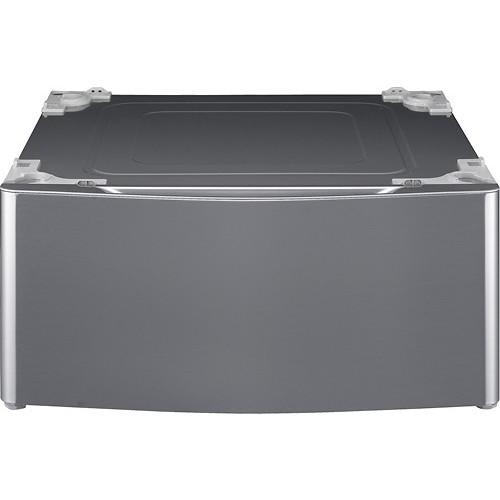 LG - Laundry Pedestal with Storage Drawer - Graphite Steel