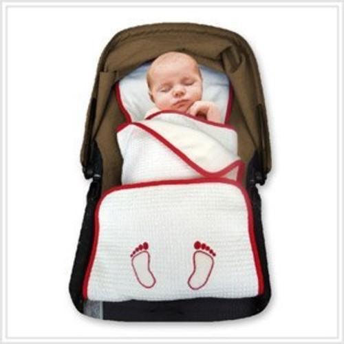 Elli & Nooli PadiBlanket 50% Organic Stroller Padding Plus Layer Blanket, Red, 0 Plus Months [Red]