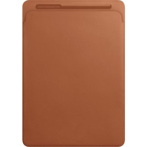 Apple - Leather Sleeve for 12.9-inch iPad Pro (Latest Model) - Saddle Brown