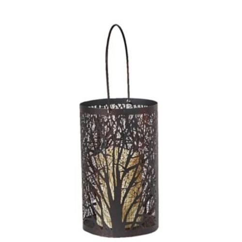 Smart Living Arboretum Lantern w/ Tree Pattern and LED Candle