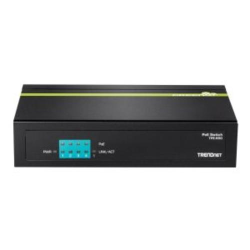 TRENDnet TPE S50 - Switch - unmanaged - 4 x 10/100 (PoE) + 1 x 10/100 - desktop - PoE (TPE-S50)