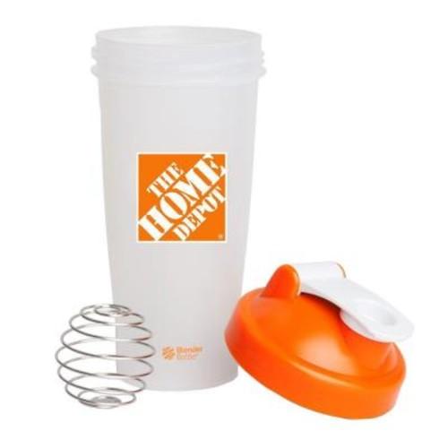 The Home Depot 28 oz. Blender Bottle Shaker in Orange