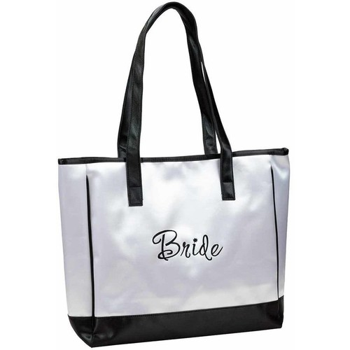 Lillian Rose White Bride Tote Bag Wedding Party Gift [White]