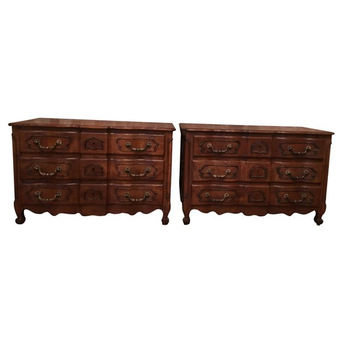 French Country Commodes, Pair