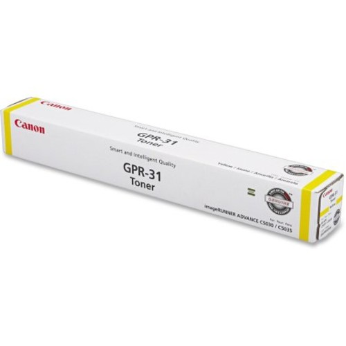 Canon 2802b003aa Laser Toner Gpr-31 Imagerunner C5030 C5035 - Yellow - 27000 Page Yield
