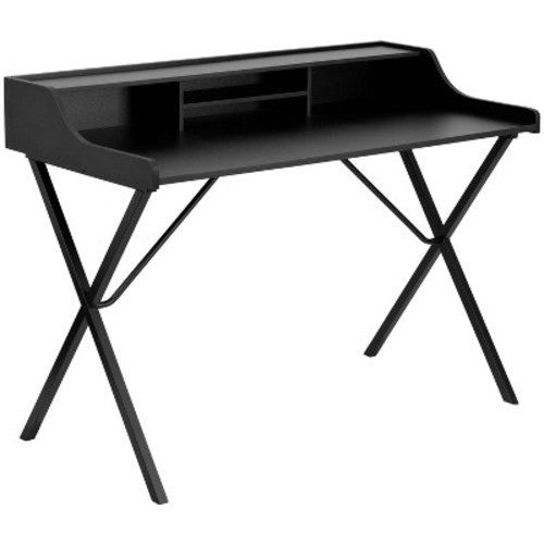 Computer Desk with Top Shelf Black - Flash Furniture