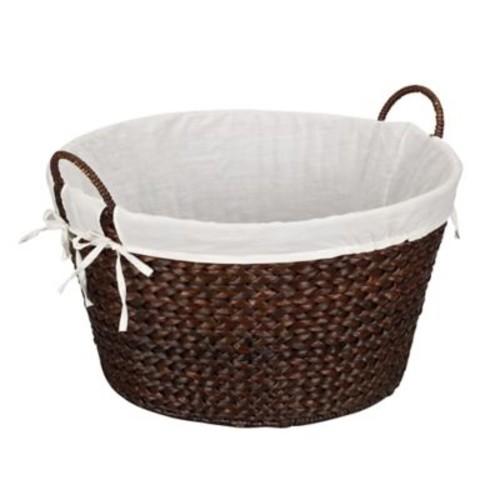 Household Essentials Round Banana Leaf Laundry Baskets