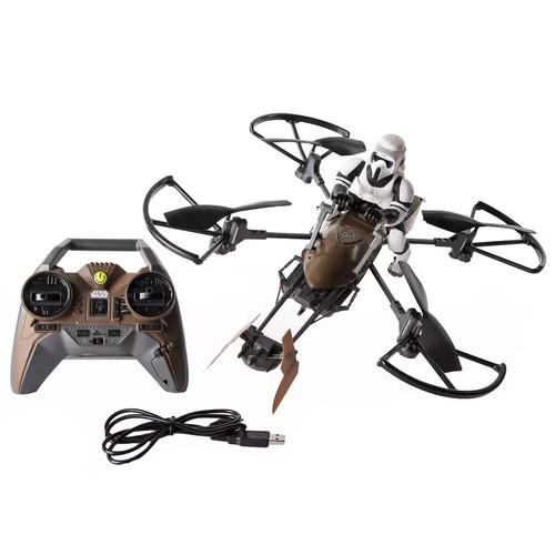 Air Hogs Star Wars 74-Z Speeder Bike Remote Controlled Drone - 2.4 GHz Black