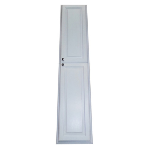 72-inch Recessed White Plantation Pantry Storage Cabinet