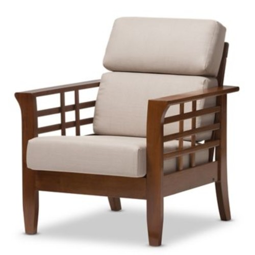 Larissa Chair in Taupe/Brown