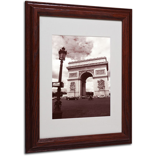 Arc de Triomphe by Kathy Yates Matted Framed Art with Wood Frame, 11 by 14-Inch [11 by 14-Inch]