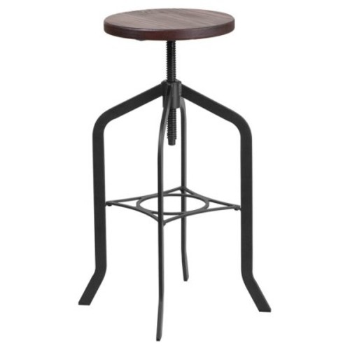 Flash Furniture 30 in. Barstool with Swivel Lift Wood Seat