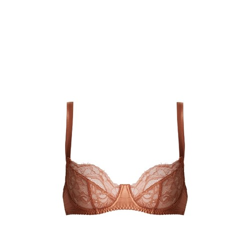 Whiskey underwired balconette lace bra