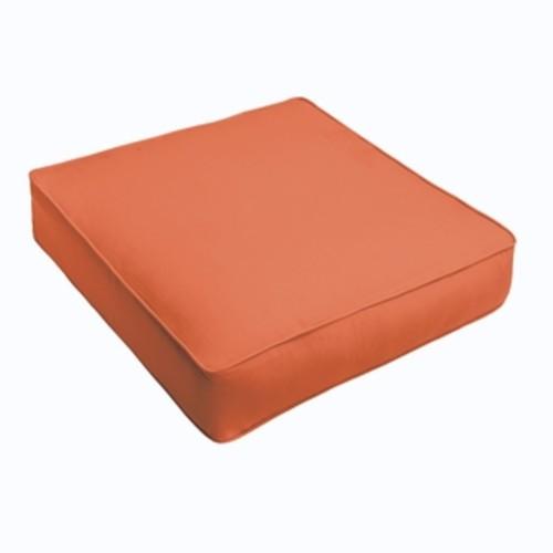 Sloane Bright Orange Indoor/ Outdoor Square Cushion