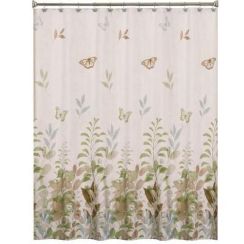 Saturday Knight Fluttering 70 in. W x 72 in. L Fabric Shower Curtain