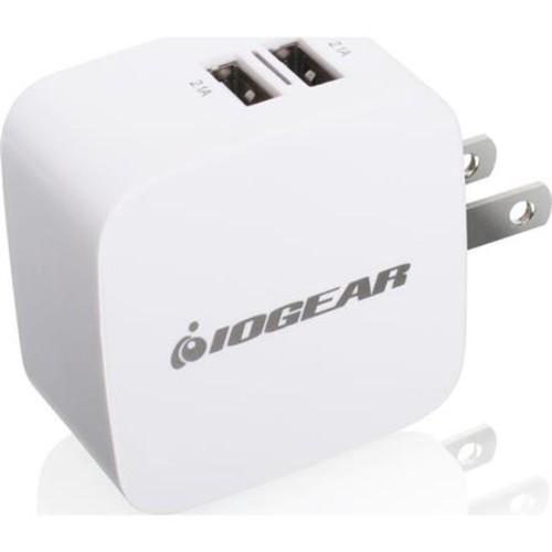 IOGEAR GearPower Dual USB 4.2A (20W) Wall Charger for iPod/iPhone/iPad GPAW2U4