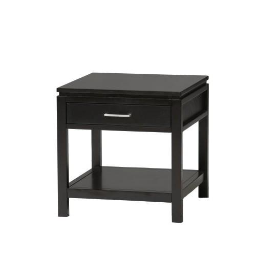 Linon Sutton Black End Table: Kitchen & Dining [Black]