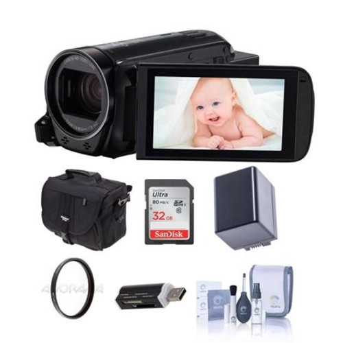 Canon VIXIA HF R700 3.2MP Full HD Camcorder, Black with Premium Accessory Bundle 1238C001 B