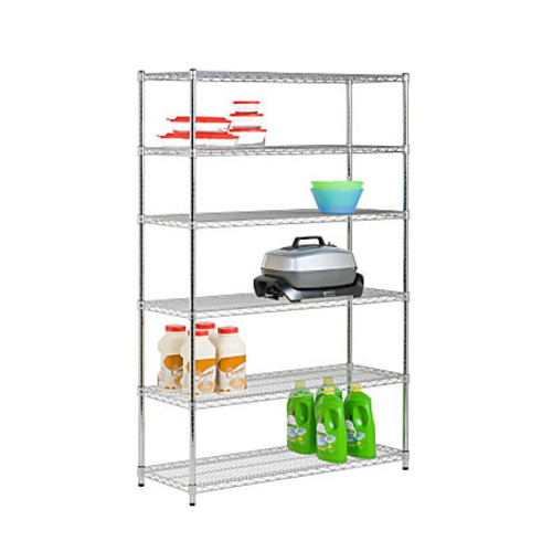 Honey-Can-Do NSF Steel Adjustable Storage Shelving Unit, Chrome