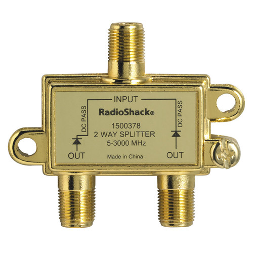 RadioShack 3.0GHz 2-Way Satellite/Broadband Diode Splitter
