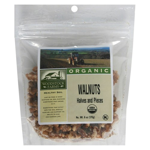 Woodstock Farms Organic Walnuts, Halves and Pieces - 6 oz