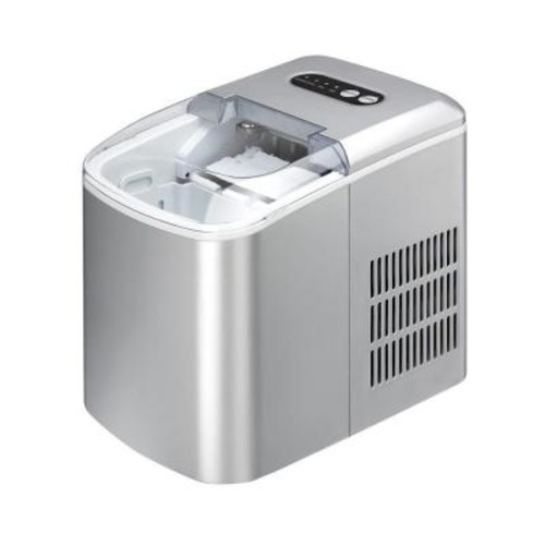 SPT 26 lb. Freestanding Ice Maker in Silver