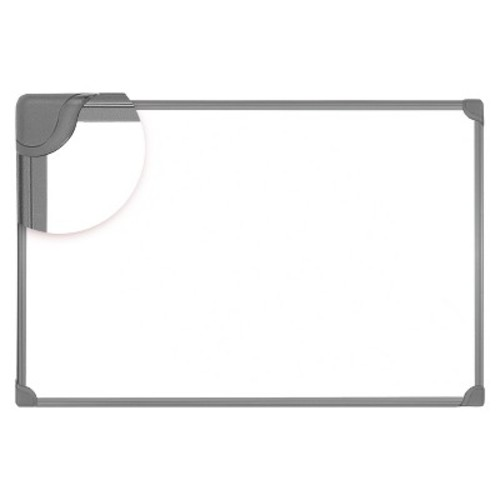 Universal Design Series Magnetic Steel Dry Erase Board, 36 x 24, White, Black Frame