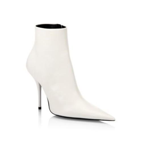 BALENCIAGA Leather Stiletto Booties