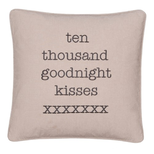''Ten Thousand Goodnight Kisses'' Throw Pillow
