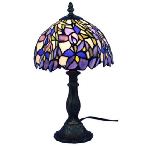 Amora Lighting Tiffany Style Iris Table Lamp