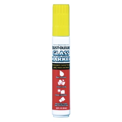 Rust-Oleum Yellow Glass Marker