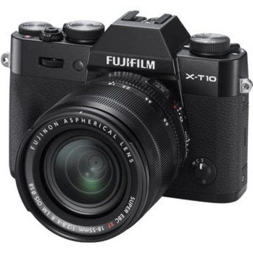 X-T10 Mirrorless Digital Camera with 18-55mm Lens (Black)