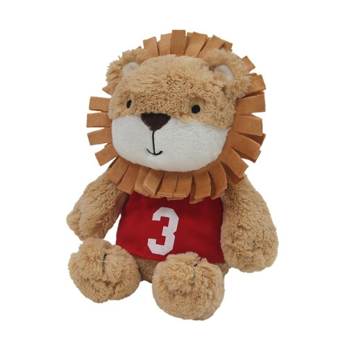 Lambs & Ivy(R) Future All Star Brown/Red Rory Lion Plush